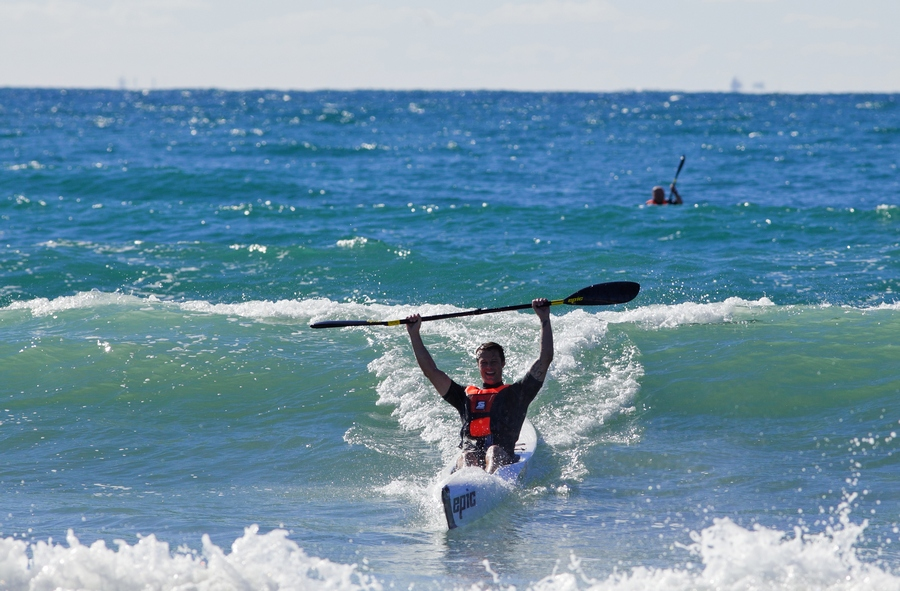 Surfski at Tarifa with seakayaking.hu